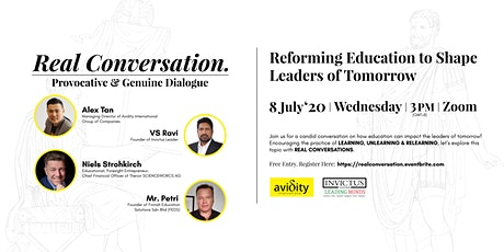 REAL CONVERSATION: Reforming Education to Shape Leaders of Tomorrow tickets