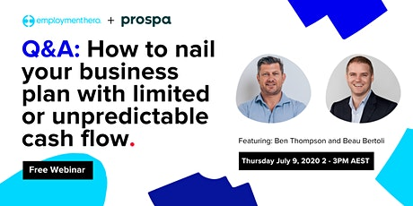 Q&A: How to Nail Your Business Plan with Limited or Unpredictable Cash Flow tickets