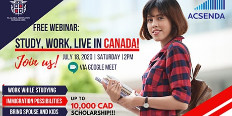 FREE WEBINAR: Study, Work, and Live in Canada! tickets