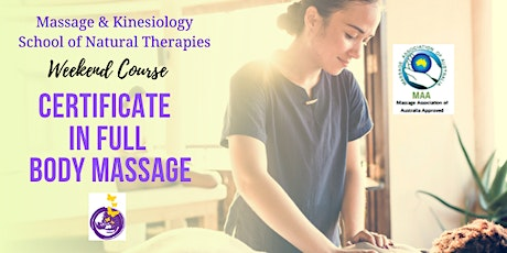 Certificate in Full Body Massage in Rockhampton. Accredited Short Course. tickets
