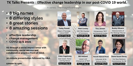 Tenby Powell : Effective change leadership in our post-COVID 19 world. tickets