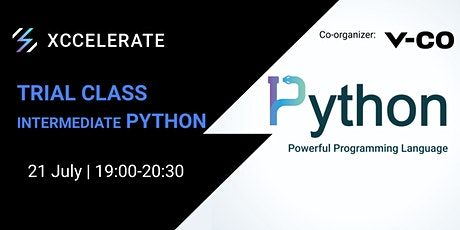 Intermediate Python Trial Class | Xccelerate tickets