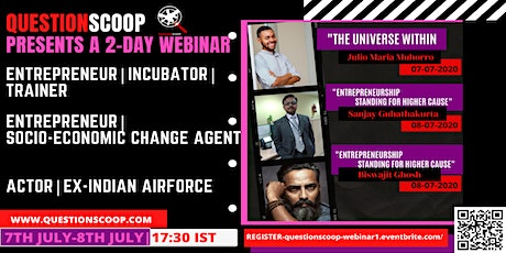 QUESTIONSCOOP WEBINAR- UNIVERSE WITHIN|ENTREPRENEURSHIP tickets