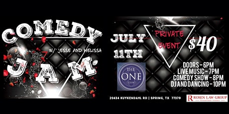 "Jesse And Melissa's ""Comedy J.A.M"" Music & All-Night Party @ The One Club tickets"