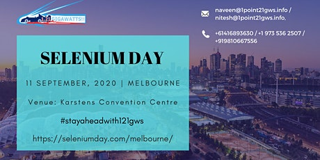 Selenium Day in Melbourne on 11 September 2020. tickets