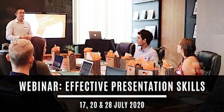 Webinar: Effective Presentation Skills tickets