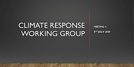 Climate Response Working Group: Meeting July 2020: CIRCULAR ECONOMY tickets