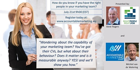 How do you know if you have the right people in your marketing team? tickets