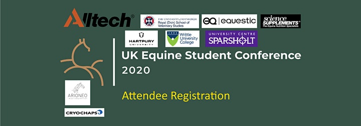 UK Equine Student Conference 2020 - ATTENDEE REGISTRATION image