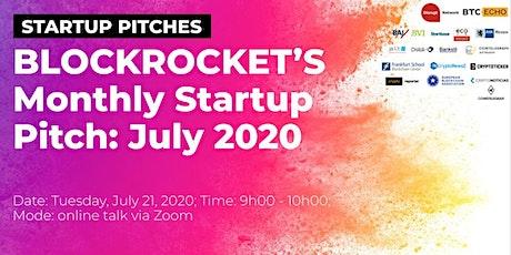 BLOCKROCKET's Monthly Startup Pitch: July 2020 biglietti