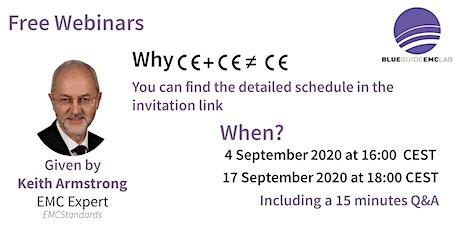 """Webinar """"CE + CE ≠ CE"""" tickets"""