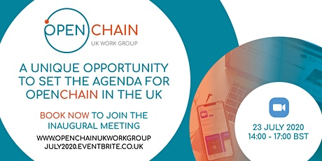 OpenChain UK Work Group Inaugural Meeting tickets