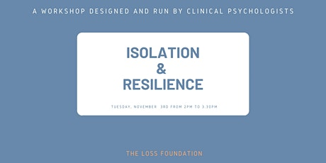 Isolation & Resilience - Nov 3rd, 2020 tickets