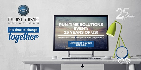 Customer Session | SAP Business One 10.0 e 25 anni di Run Time Solutions biglietti