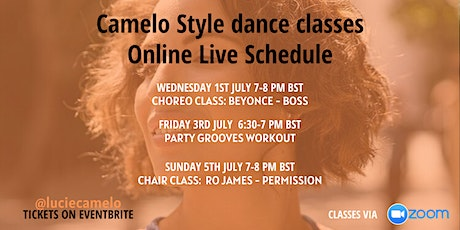 Online Live Dance Classes with Lucie Camelo - 1ST JULY - 5TH JULY 2020 tickets