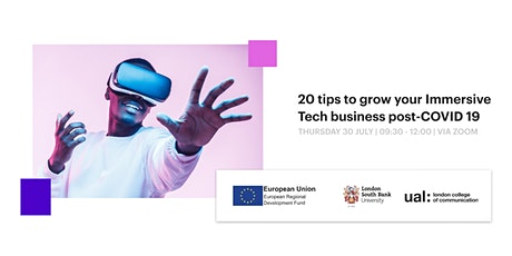 20 tips to grow your Immersive Tech business post-corona tickets