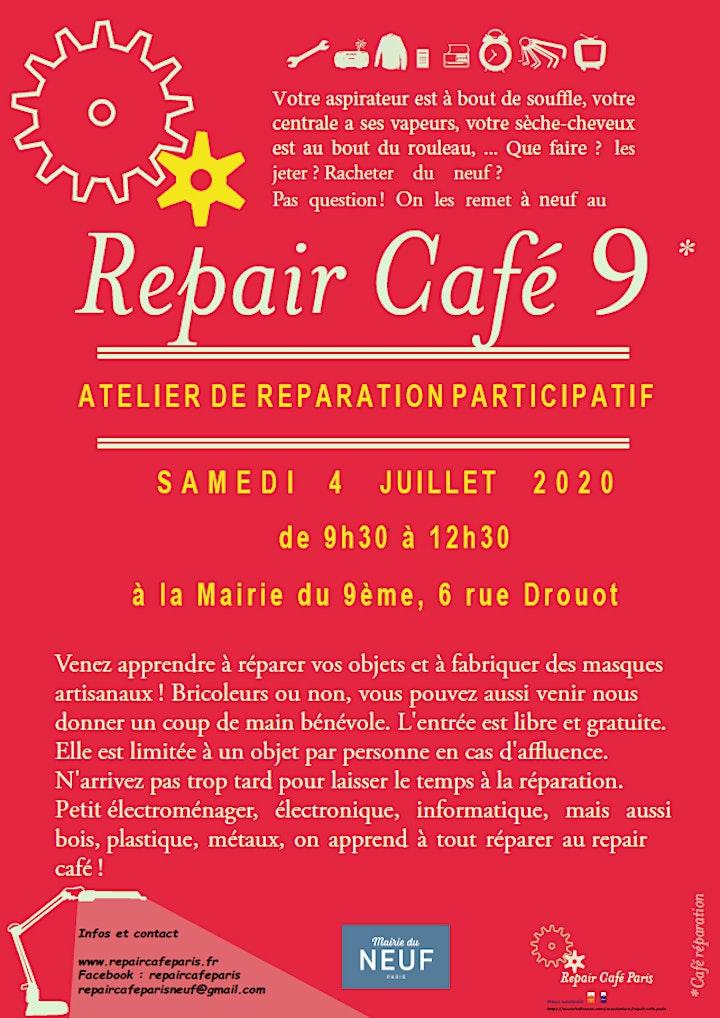Image pour Repair Café 9 - Samedi 4 juillet à 9h30