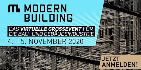 MODERN BUILDING - Das virtuelle Großevent für die Bau- und Gebäudeindustrie Tickets