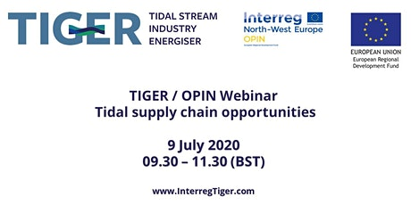 TIGER / OPIN Webinar: Tidal supply chain opportunities tickets
