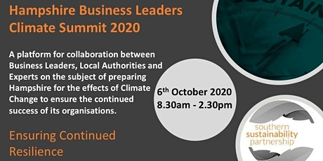 Hampshire Business Leaders Climate Summit 2020 tickets