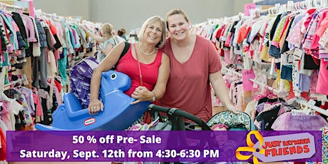 50% off PRE Sale Saturday Sept. 12th  4:30-6:30pm  tickets