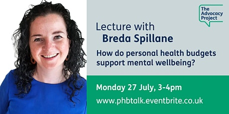 How do personal health budgets support mental wellbeing? tickets
