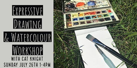 Expressive Drawing & Watercolour Workshop  with Cat Knight tickets