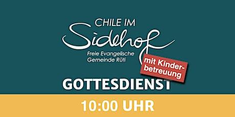 10:00 Uhr Gottesdienst   mit Kinderbetreuung Tickets