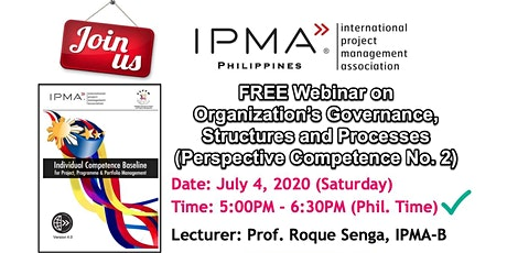 IPMA Philippines - ICB 4.0 Webinars tickets