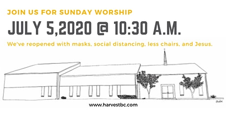 July 5, 2020 Worship Service tickets