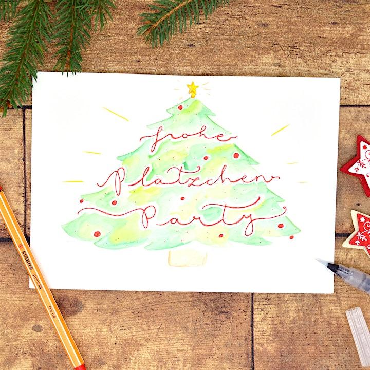 Aquarellfarben Lettering  - Muttertags Karten und Maleffekte mit Schrift: Bild