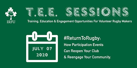 TEE Sessions 01: #ReturnToRugby tickets