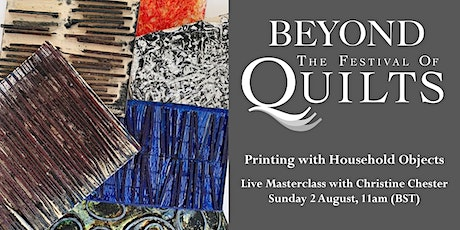 Christine Chester: Printing with Household Objects Live tickets