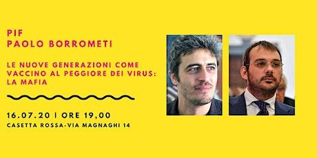 Pif e Paolo Borrometi su nuove generazioni e mafia biglietti