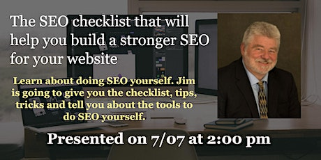 The SEO checklist that will help you build a stronger SEO for your website tickets