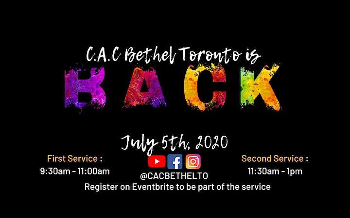 First Service - C.A.C Bethel Toronto 9:30am - 11:00am image