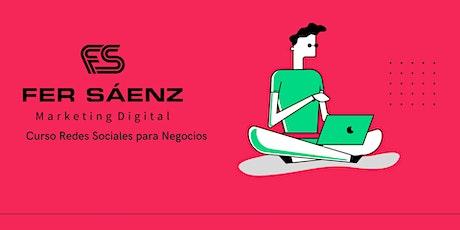 CURSO REDES SOCIALES PARA NEGOCIOS 27-29 DE JULIO biglietti