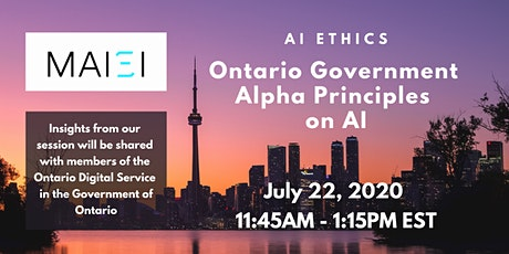 AI Ethics: Ontario Government Alpha Principles on AI tickets