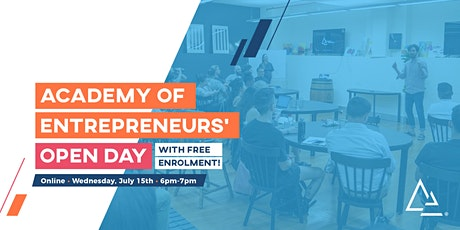 Academy of Entrepreneurs' Online Open Day: School for Entrepreneurs tickets