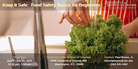 Keep It Safe:  Food Safety Basics for Beginners tickets