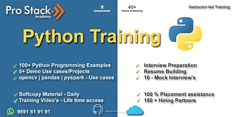 Python Online Training | Instructor LED & Pure Hands-on Training tickets