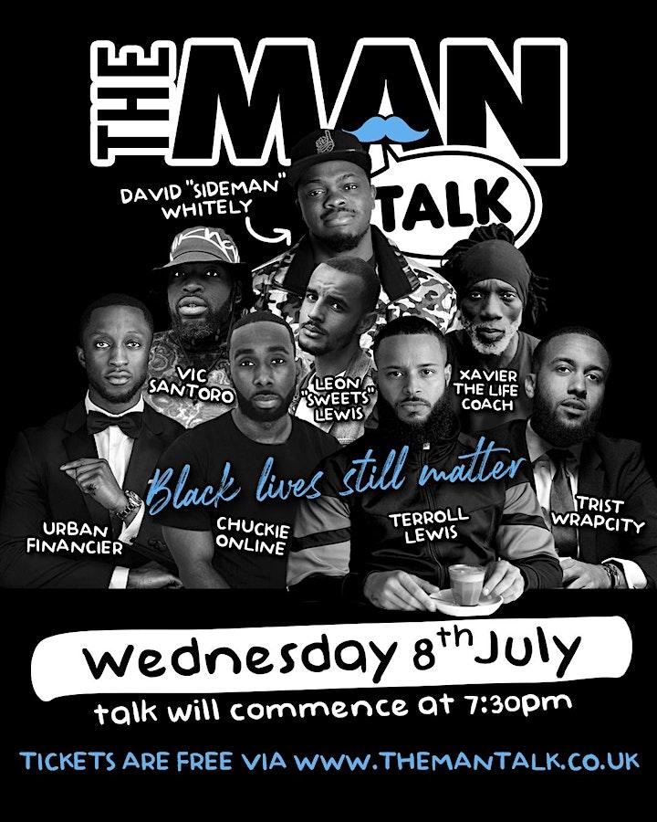 The Man Talk - live via Zoom (Black lives still matter) image