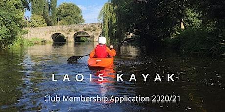 Laois Kayak & Canoe Club Membership Registration 3 tickets