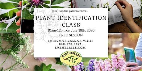 Plant Identification Class tickets