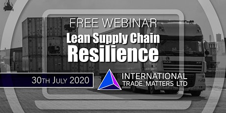 Lean Supply Chain Resilience tickets
