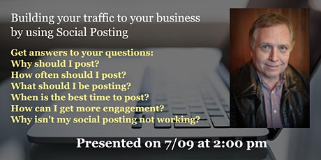 Building your traffic to your business by using Social Posting tickets