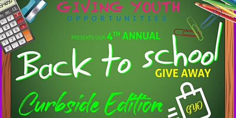 """G.Y.O's  4th Annual Back to School Giveaway """"Curbside Edit"""" tickets"""