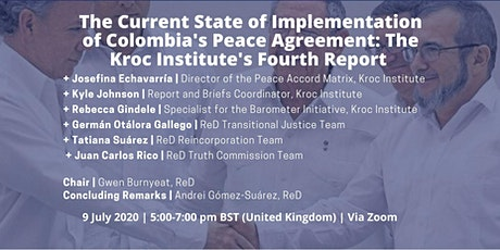 Implementation of Colombia's Peace Agreement: Kroc Institute's 4th Report tickets
