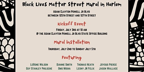 Black Lives Matter Street Mural in Harlem - Kick Off Event tickets