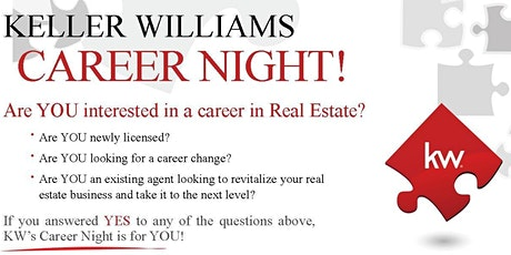 Keller Williams Career Night - $100 Scholarship drawing tickets